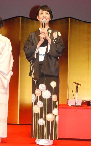 映画『舞妓はレディ』完成披露舞台あいさつに出席した草刈民代 (C)ORICON NewS inc.