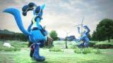 アーケード用ビデオゲーム『ポッ拳 POKKEN TOURNAMENT』画面キャプチャ対峙ショット