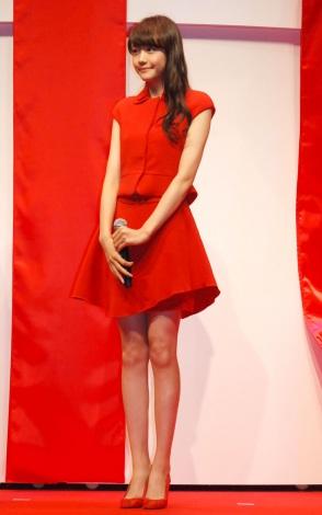 ロッテ『ガーナ チョコびらきセレモニー2014』に出席した松井愛莉