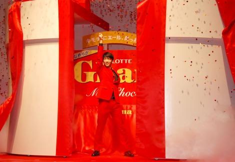 羽生結弦選手の登場シーン=ロッテ『ガーナ チョコびらきセレモニー2014』 (C)ORICON NewS inc.