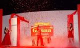ド派手演出で登場した羽生結弦選手=ロッテ『ガーナ チョコびらきセレモニー2014』 (C)ORICON NewS inc.