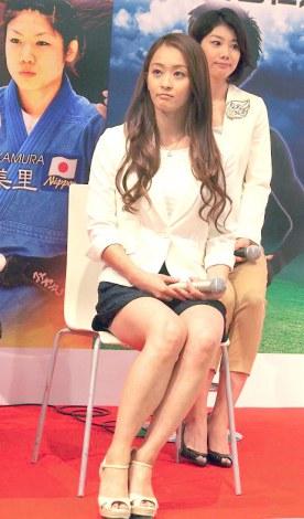 『アジア大会2014』の会見に出席した田中理恵 (C)ORICON NewS inc.