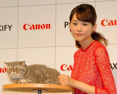 """サムネイル 共演した""""猫""""にメロメロの桐谷美玲 (C)ORICON NewS inc."""