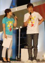 『24時間テレビ』総合司会の羽鳥慎一アナ(右)も男気あふれたTOKIOメンバーの裏話を明かした(左は水卜麻美アナ) (C)ORICON NewS inc.