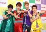 来年1月のメジャーデビューが決まったカスタマイZ 写真左からHIROKI(B)、GORO(Vo&G)、HAMA(Vo)、DAICHI(Dr) (C)ORICON NewS inc.