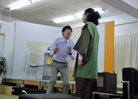 舞台『スピリチュアルな1日』の公開けいこの模様 (C)ORICON DD inc.