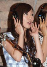 映画『ハニー・フラッパーズ』主題歌公開レコーディングに出席した元AKBの折井あゆみ (C)ORICON NewS inc.