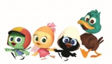 CGアニメで復活『カリメロ』(左から)ジュリアーノ、プリシラ、カリメロ、ピーター(C) PAGOT, (C)Calimero CGI