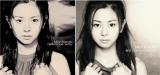 00年6月発売の1stアルバム『delicious way』(写真左)のジャケ写を15周年記念ベストで再現した倉木麻衣