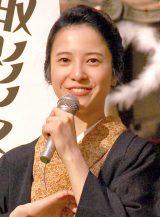 NHK連続テレビ小説『花子とアン』クランクアップ取材会に出席した主演の吉高由里子 (C)ORICON NewS inc.