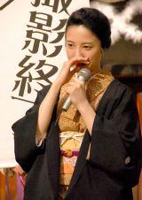 NHK連続テレビ小説『花子とアン』クランクアップ取材会で涙をみせた吉高由里子 (C)ORICON NewS inc.