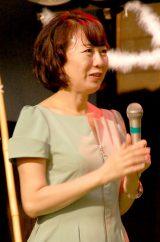 NHK連続テレビ小説『花子とアン』クランクアップ取材会に出席した脚本・中園ミホ氏 (C)ORICON NewS inc.