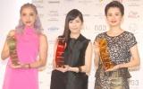 (左から)植野有砂、渡辺麻友、ホラン千秋=『THE BEAUTY WEEK AWARD 2014』授賞式 (C)ORICON NewS inc.