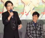 NHK連続テレビ小説『マッサン』第1週完成試写会に出席した(左から)泉ピン子、玉山鉄二 (C)ORICON NewS inc.