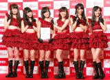 NMB48(左から)吉田朱里、矢倉楓子、山本彩、渡辺美優紀、白間美瑠、上西恵 (C)ORICON NewS inc.