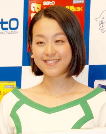 佐藤製薬『ストナシリーズ』新CM公開収録を行った浅田真央 (C)ORICON NewS inc.