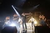 『WINNER 1st JAPAN TOUR 2014』初日公演の模様(左から)ナム・テヒョン、カン・スンユン、イ・スンフン、キム・シ?ヌ、ソン・ミンホ