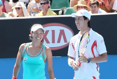 クルム伊達公子が錦織圭にエール(写真は2012年全豪オープンのミックスダブルスより)(C)テニスクラシック・ブレーク