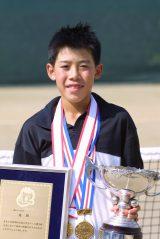 全国小学生テニス選手権で優勝した錦織選手の貴重な写真も掲載(当時12歳)(C)テニスクラシック・ブレーク