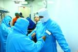 工場内で行われている衛生管理の様子