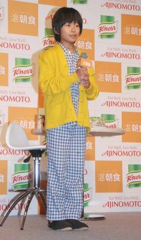 『クノール カップスープ』の新CM記者発表会に出席した加藤清史郎 (C)ORICON NewS inc.