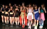 THE ポッシボー、吉川友、アップアップガールズ(仮)の3組で結成されたアイドルユニット「チーム・負けん気」 (C)ORICON NewS inc.