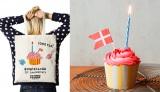 Flying Tiger Copenhagen表参道ストアで10月2日、先着102人にプレゼントされる1周年記念のカップケーキと、同日より発売される記念バッグ