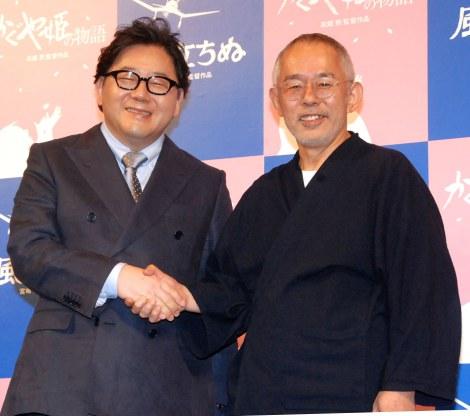 都内で行われたイベントに出席した秋元康氏(左)と鈴木敏夫氏 (C)ORICON NewS inc.