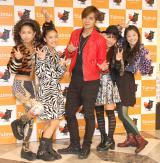 SHOW(中央)のファンミーティングにゲスト出演したJ☆Dee'Z(左から)Meik、ami、Nono、MOMOKA (C)ORICON NewS inc.