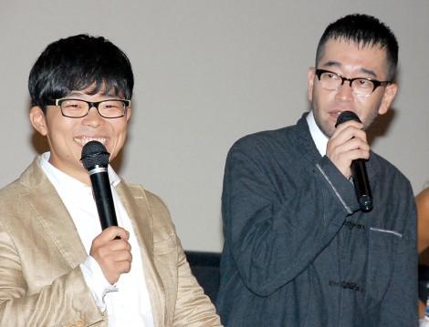 映画『LOVE  SESSION』舞台あいさつに出席した(左から)さかいゆう、槇原敬之 (C)ORICON NewS inc.