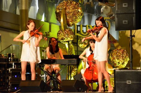 「OMOTESANDO HILLS SPECIAL PARTY with LUX」に登場した、女性カルテット1966Quartet (C)oricon ME inc.