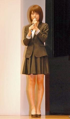 亀田製菓『亀田の柿の種』開発部長就任会見に出席した有村架純 (C)ORICON NewS inc.
