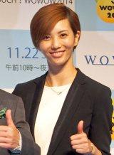 宝塚退団後、初の公の場に登場した壮一帆=『TOUCH!WOWOW2014』記者会見 (C)ORICON NewS inc.