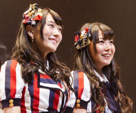 NMB48の10枚目のシングルでWセンターに起用された(左から)矢倉楓子、白間美瑠 (C)NMB48
