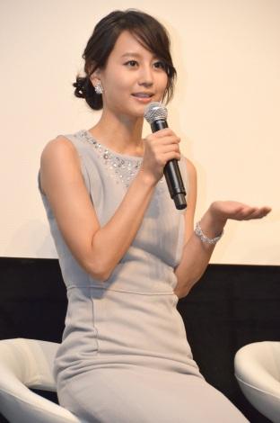 """映画『蜩ノ記』の""""涙活""""試写会に出席した堀北真希 (C)ORICON NewS inc."""