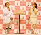 専門医と皮膚に関するマルバツクイズ=第一三共『ミノン』洗浄シリーズ新CM発表会に出席した大島優子 (C)ORICON NewS inc.
