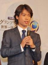 今シーズンのプログラムを発表した町田樹選手=『グランプリシリーズ・ファイナル2014』記者会見 (C)ORICON NewS inc.