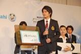 意気込みを明かす小塚崇彦選手=『グランプリシリーズ・ファイナル2014』記者会見 (C)ORICON NewS inc.