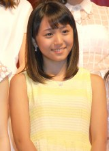 スマイレージ新メンバーに決定した室田瑞希=ミュージカル『演劇女子部 S/mileage's JUKEBOX MUSICAL「SMILE FANTASY!」』初日公演前会見 (C)ORICON NewS inc.