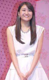 ミュージカル『演劇女子部 S/mileage's JUKEBOX MUSICAL「SMILE FANTASY!」』初日公演前に会見を行ったスマイレージの和田彩花 (C)ORICON NewS inc.