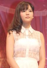 ミュージカル『演劇女子部 S/mileage's JUKEBOX MUSICAL「SMILE FANTASY!」』初日公演前に会見を行ったスマイレージの田村芽実 (C)ORICON NewS inc.
