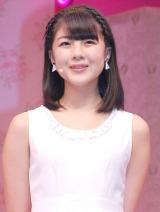 ミュージカル『演劇女子部 S/mileage's JUKEBOX MUSICAL「SMILE FANTASY!」』初日公演前に会見を行ったスマイレージの中西香菜 (C)ORICON NewS inc.