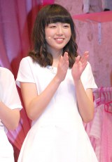 ミュージカル『演劇女子部 S/mileage's JUKEBOX MUSICAL「SMILE FANTASY!」』初日公演前に会見を行ったスマイレージの勝田里奈