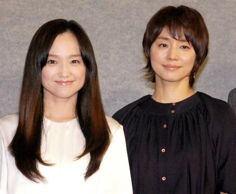 NHKドラマ『さよなら私』の試写会に出席した(左から)永作博美、石田ゆり子 (C)ORICON NewS inc.