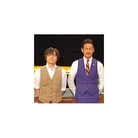 『素敵な選TAXI』制作発表会見に出席した(左から)竹野内豊、バカリズム (C)ORICON NewS inc.