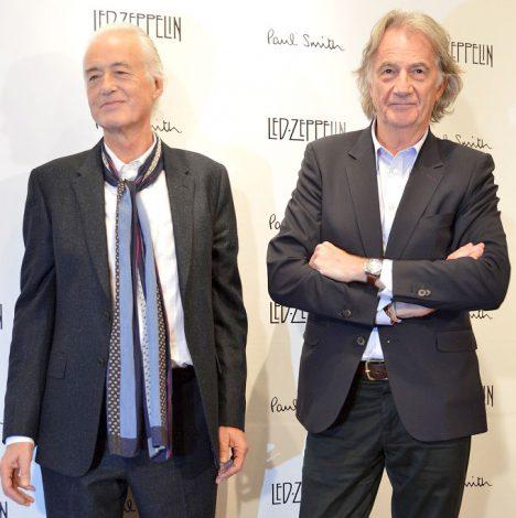 (左から)ジミー・ペイジ&ポール・スミスが2ショットを披露 (C)ORICON NewS inc.