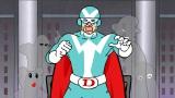 野沢雅子が1人全役吹き替えに挑戦した第13話「しっかり!DXファイター」場面写真。『秘密結社 鷹の爪 EX』(12月3日発売)の特典映像に収録(C)秘密結社鷹の爪Extreme 製作委員会