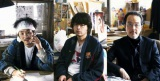 漫画家を演じるクドカンと、編集者役の山田孝之&リリー・フランキー(C)映画「バクマン。」製作委員会(C)大場つぐみ・小畑健/集英社