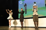 『Challenge for ASIA by ANA × AKB48 in Taipei 』に出席した(左から)小嶋菜月、北原里英、加藤玲奈