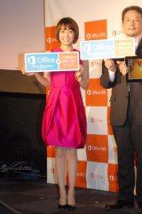 日本マイクロソフト『New Office』発売記念イベントに出席した小林麻耶 (C)ORICON NewS inc.
